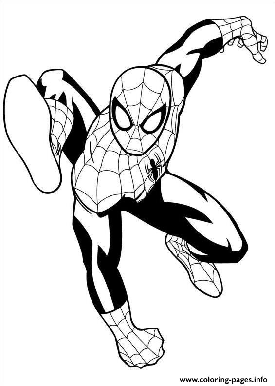 Print Ultimate Spiderman 4 Coloring Pages Spiderman Coloring Coloring Pages Superhero Artwork