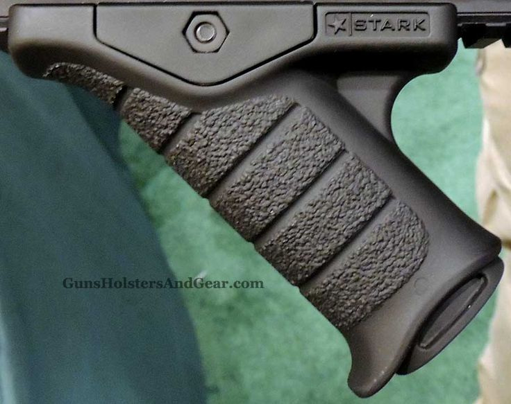 The Stark SE-5 Express Grip is a new angled fore grip for the AR-style rifle. Stark Equipment was also showing their new MultiCam pieces at 2013 SHOT Show.
