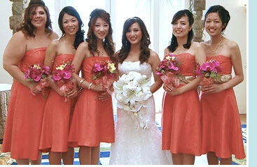 This bridesmaid style is flattering to all figure shapes