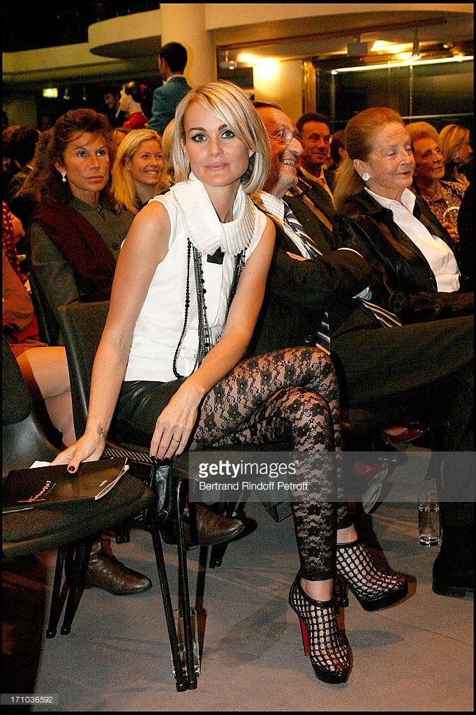 Laeticia Hallyday at The Auction Of Frimousses De Createurs In Aid Of UNICEF At L' Hotel Des...