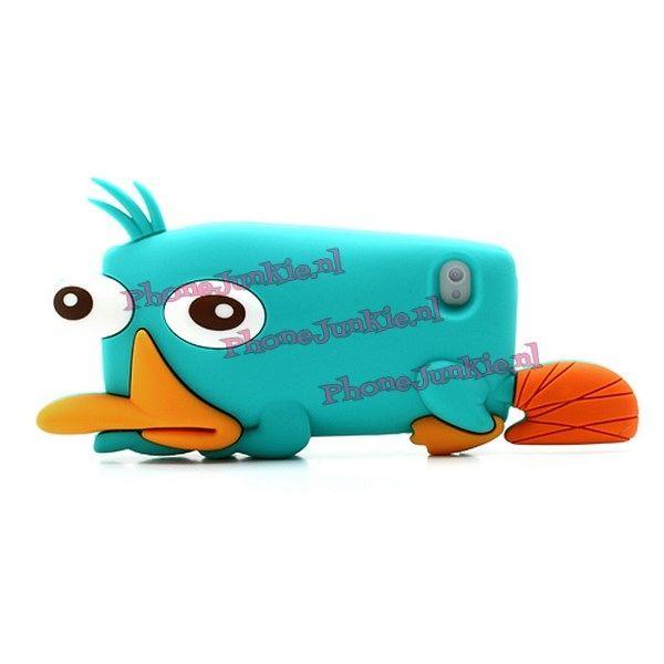 Perry het Vogelbekdier hoesje voor de iPhone 4 en 4s. -