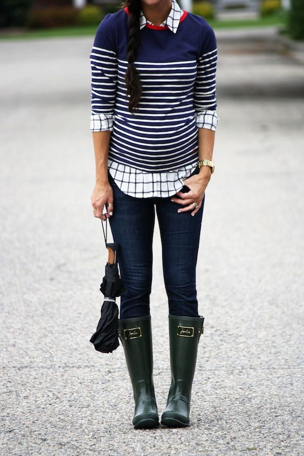 Striped and checkered print... such a fun combo!
