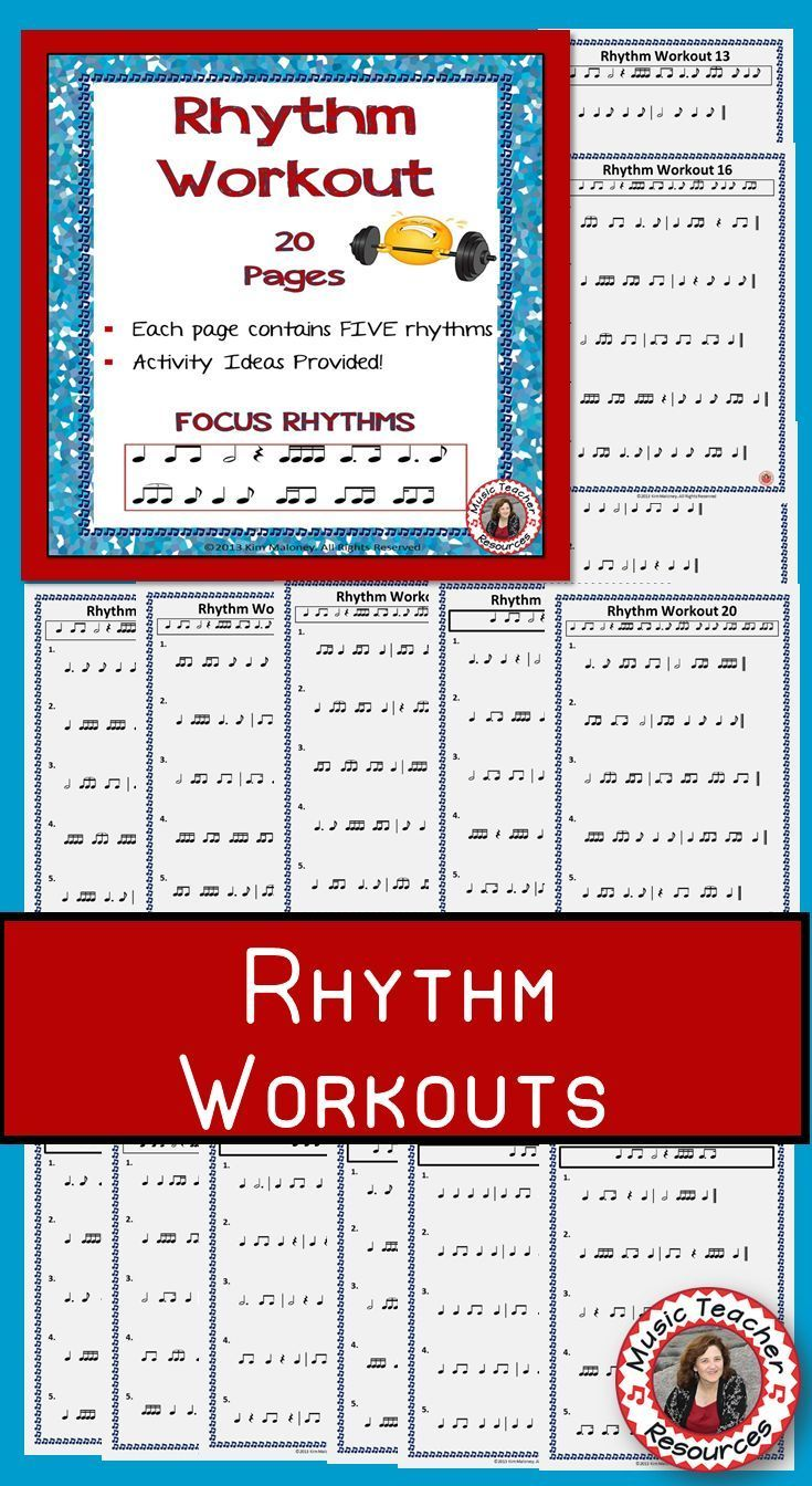 Rhythm Workouts for Middle School Music Class  |  RHYTHM WORKOUT  Rhythm is a vital concept for all musicians to understand! It needs constant reinforcement and that is why I have created Rhythm Workout.  ♫ CLICK through to preview or save for later!  ♫