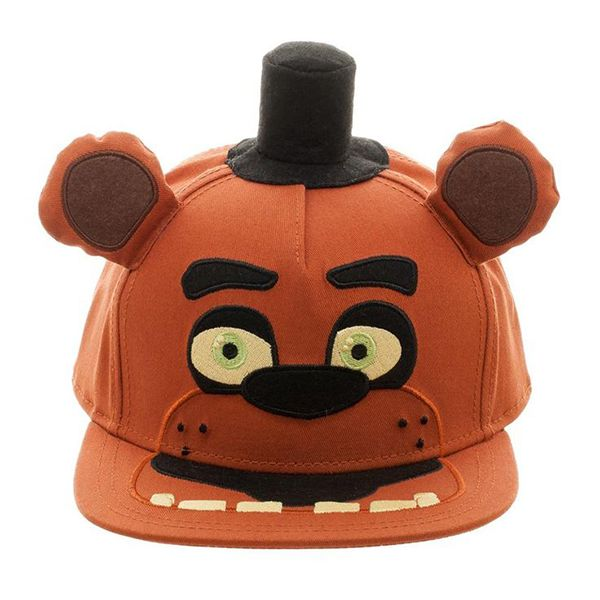 new product 7dd13 a2aa2 Wear your love of Five Nights At Freddy s with this stylish Freddy Hat!  Brown snapback cap features Freddy Fazbear s face with 3D ears and top hat  attached ...