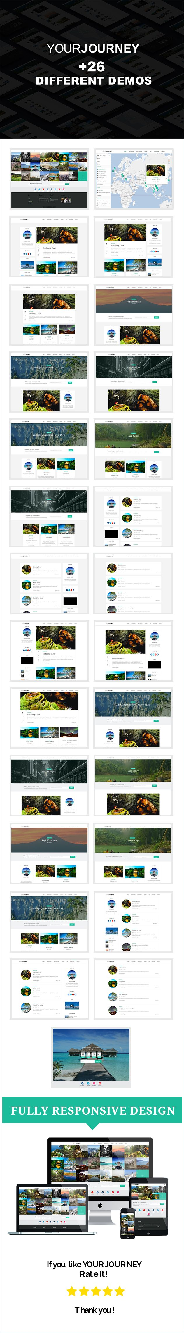 Your journey - A Wordpress Travel Blog Wordpress Theme