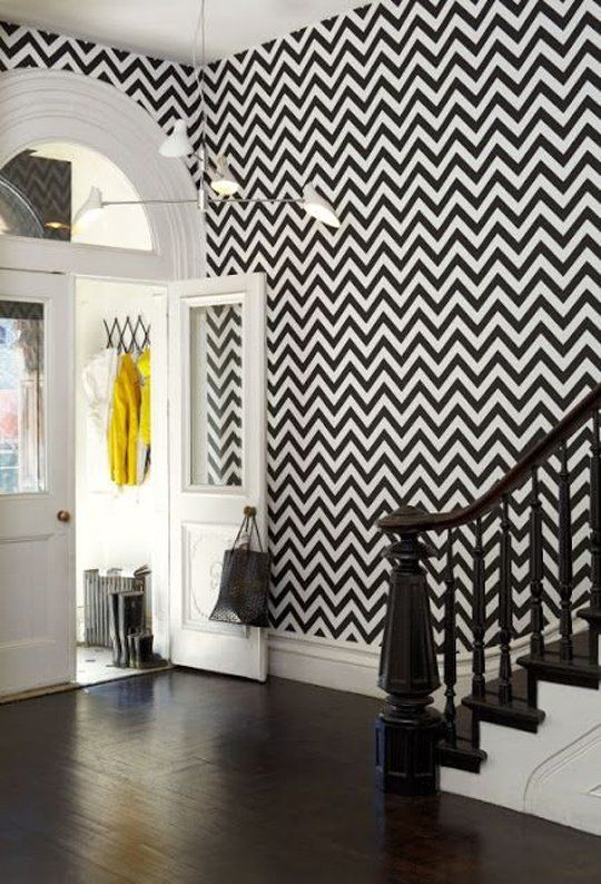 Black and white chevron.