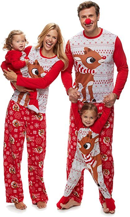 14290b8d4a Rudolph the Red Nosed Reindeer Christmas Holiday Family Sleepwear Pajamas  (X-Small