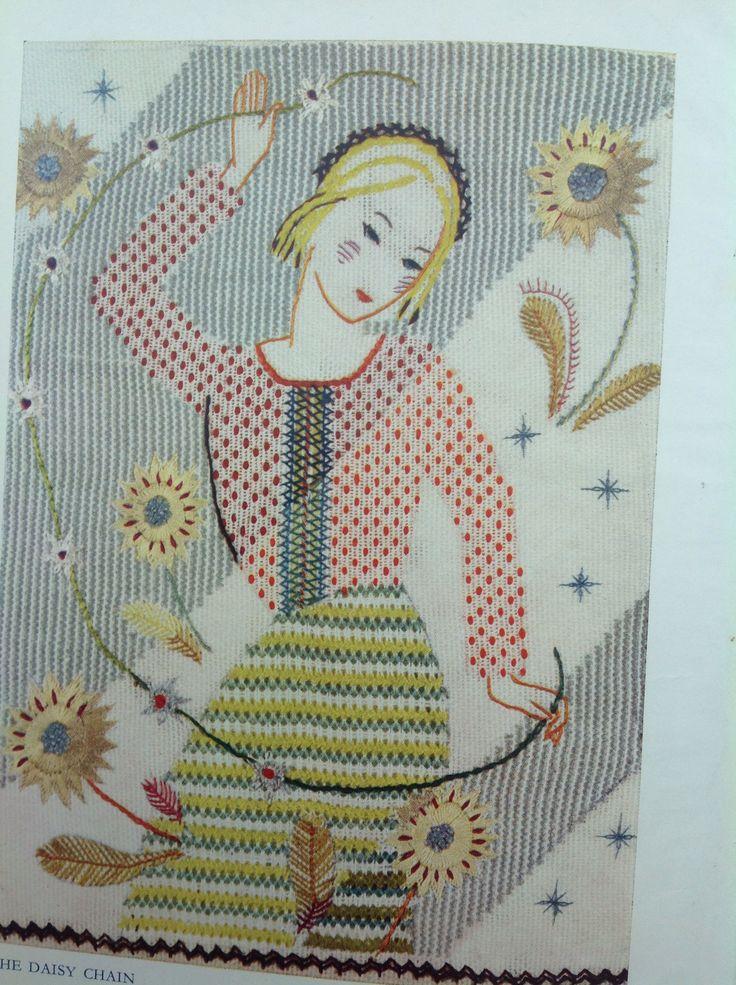 Kathleen Mann's ' Daisy Chain',similar style to Rebecca Crompton's work