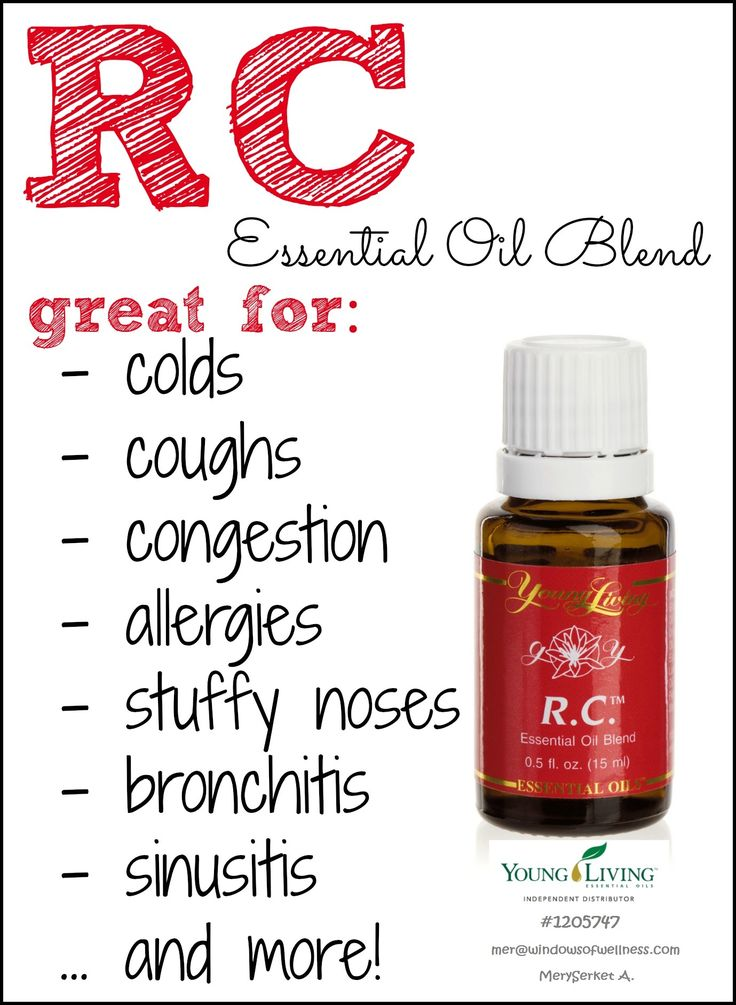 Combine 2-4 drops of this essential oil with 1 tablespoon of vegetable oil - Rub on the upper chest and back region before bedtime - Apply each night until symptoms are completely gone.