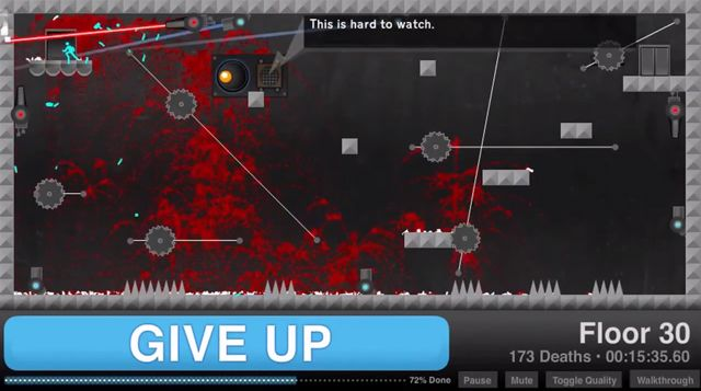 Give Up, An Insanely Difficult Flash Video Game About Failure & Regret