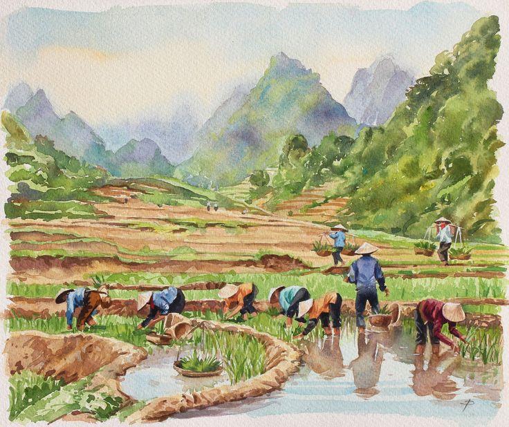 Watercolour Paintings & Prints by International Artist