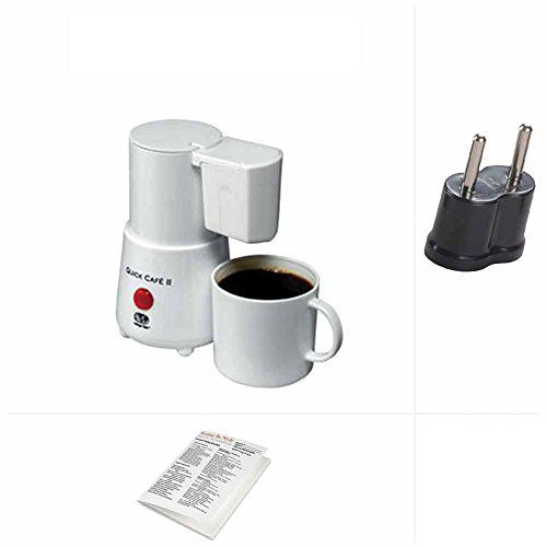 Going In Style Europe Coffee Maker Quick Cafe Dual Voltage w Adapter Set * You can get more details by clicking on the image.