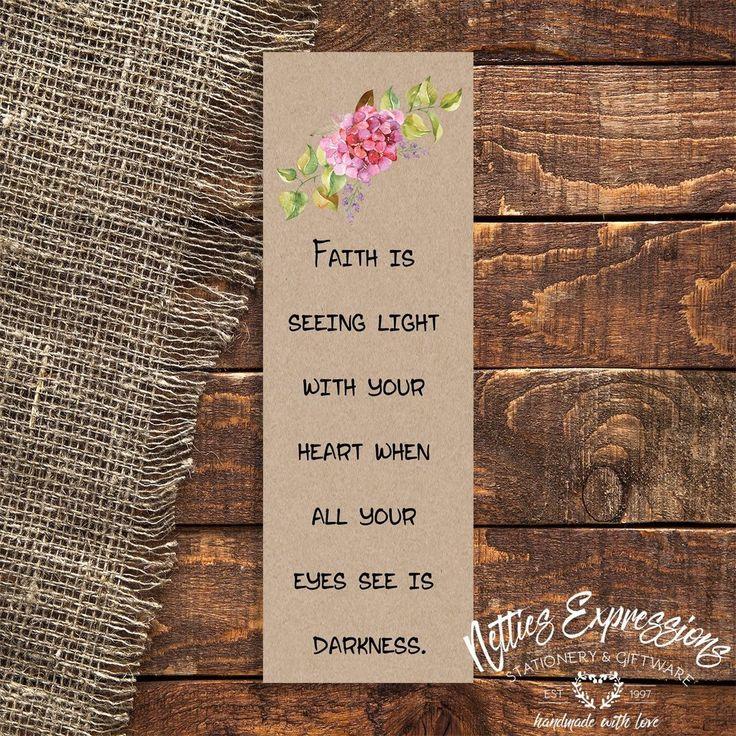 Faith is seeing - Bookmark