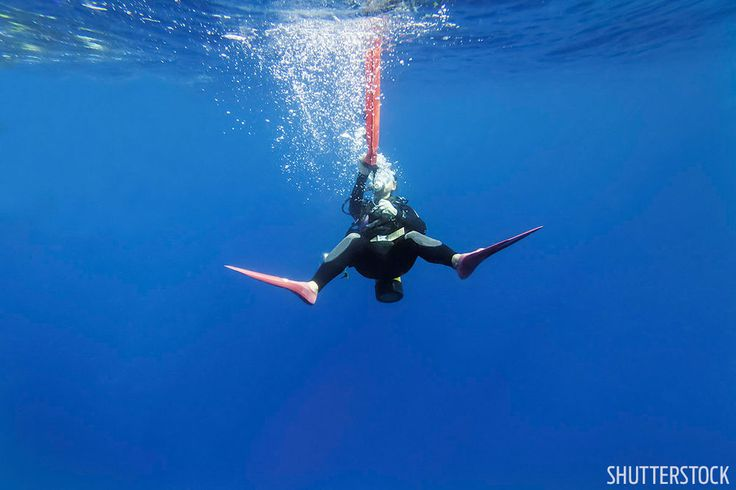 Scuba diving training how to tip for surface signaling