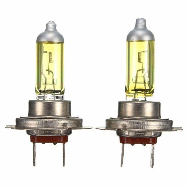 Faros de xenón ámbar luces halógenas bombillas de luz H7 Pair 55w 12v
