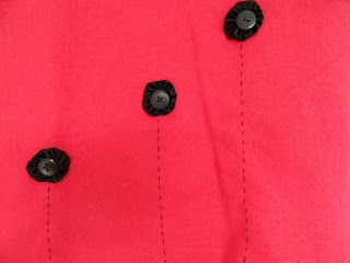 Repairing a damaged skirt with suffolk puffs by Craft with Ruth Cartwright