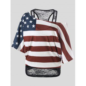 SHARE & Get it FREE   Plus Size Skew Collar American Flag T-ShirtFor Fashion Lovers only:80,000+ Items·FREE SHIPPING Join Dresslily: Get YOUR $50 NOW!