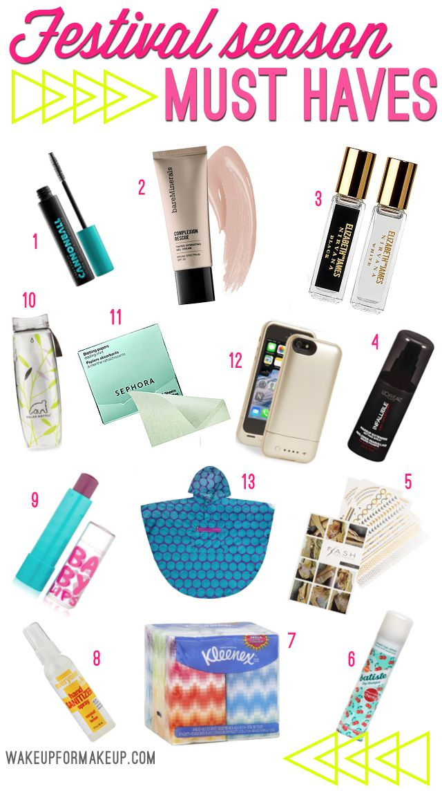 Festival must haves. Here's everything you should make sure to pack!