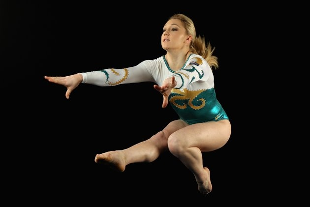 Australian artistic gymnast Emily Little, 18, poses during an Australian Gymnastics team portrait session at the State Sports Centre on May 26, 2012 in Sydney, Australia.