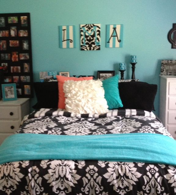 Best Aqua Black And White Decor Images On Pinterest Home
