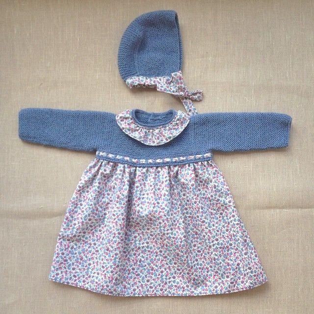 Vestido Cayetana #pelotedelainebb #fashionbebes #handmade #hechoamano #bebes