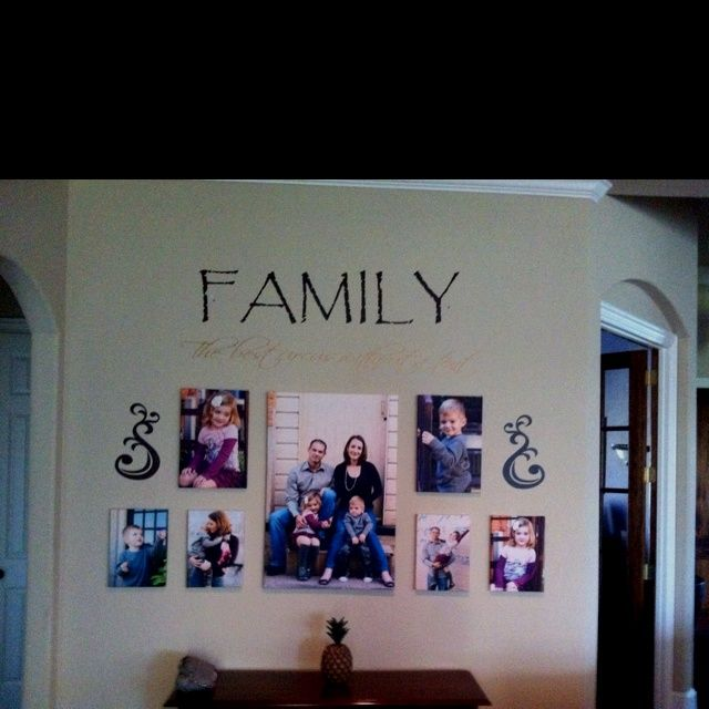 canvas photo board ideas - family photo wall collage ideas