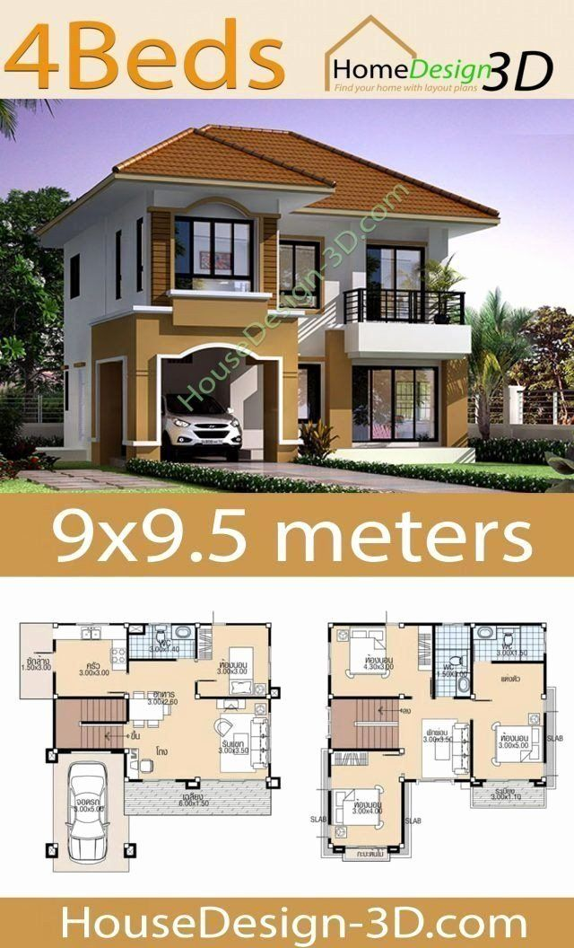 Best 3d Home Design Fresh 20 Modern House Floor Plans 3d In 2020 Duplex House Design House Construction Plan Bungalow Style House Plans