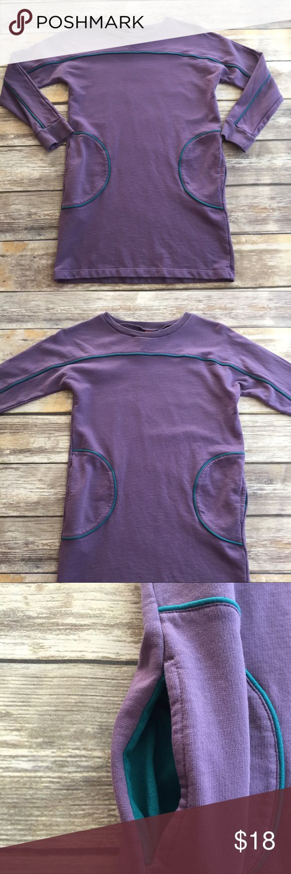 """Tea Collection Dress Purple long sleeve dress with pockets. """"Katri Goes Kasual"""" dress from the """"Mod. Cool. Back to school"""" line. Excellent condition. Tea Collection Dresses"""