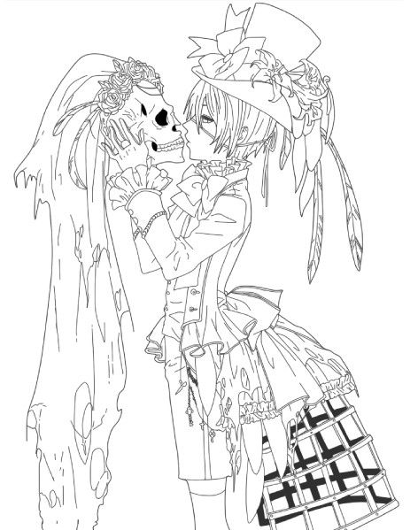 Complex coloring pages for adults google search - Adult manga 2 ...
