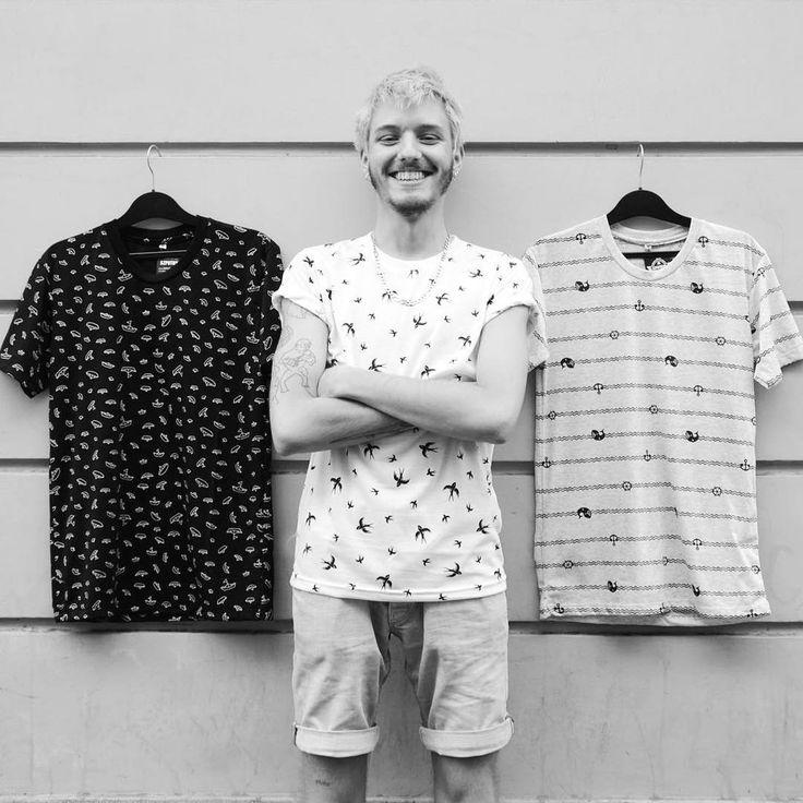 Monochrome man  Cool pattern black and white men's t-shirt collection   #szputnyik #szputnyikshop #budapest   #smile #boy #birds #navy #nautical