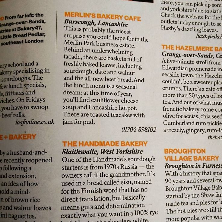 #merlinsbakerycafe listed in today's #SundayTimes 25 best UK bakeries. http://ift.tt/2fQclHE or pop out and buy the newspaper. #merlinsbakerycafe #lancashirelife #lancashire #realbread #realfood #SundayTimes #burscough