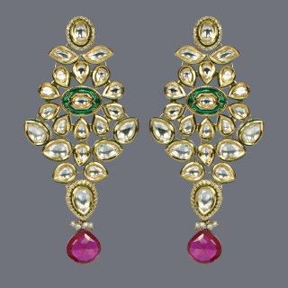 Featuring this beautiful Kundan and Ruby Earrings in our wide range of earrings. Grab yourself one. Now!