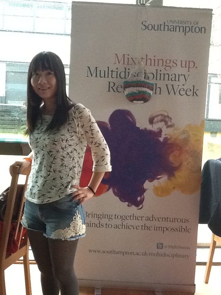 Jue Zhang Lead Fashion Designer volunteer for 'Be A Green Shopper', Winchester School of Art