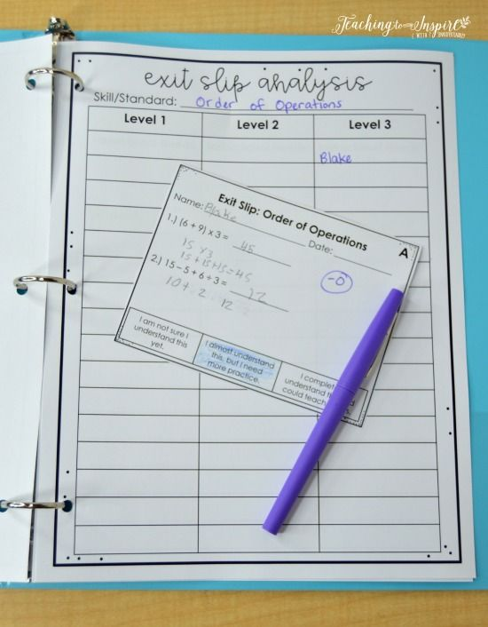 FREE forms and data keeping printables for using exit slips to drive your instruction.