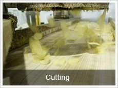 potato cutting machine for adjusting shapea of the potato chips