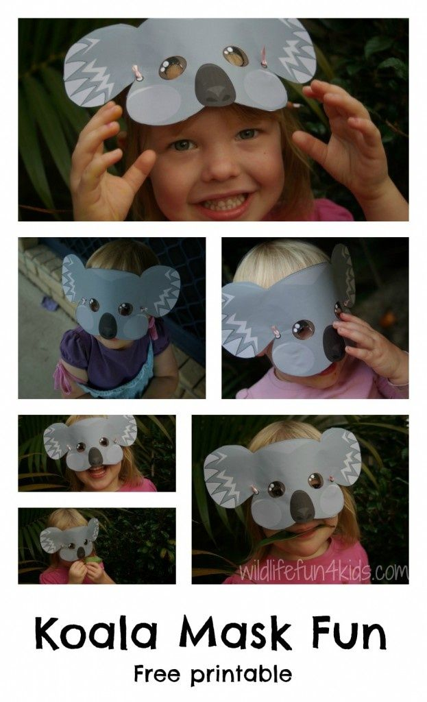 Australia Craft - Super cute Koala mask craft with free printable (geography, homeschool, preschool)