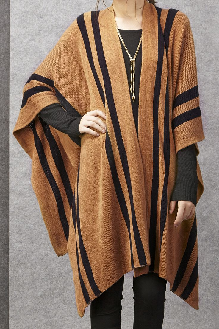 Striped poncho by Sole Society