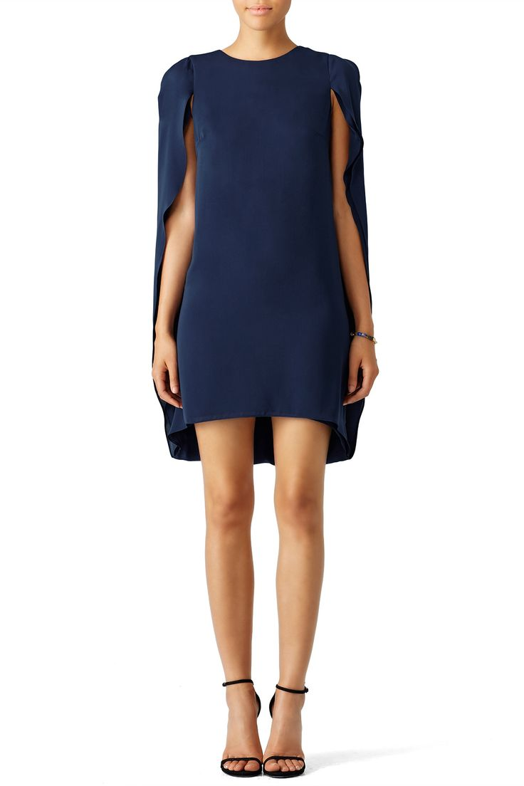 Rent Navy Cape Dress by Halston Heritage for $35 - $70 only at Rent the  Runway