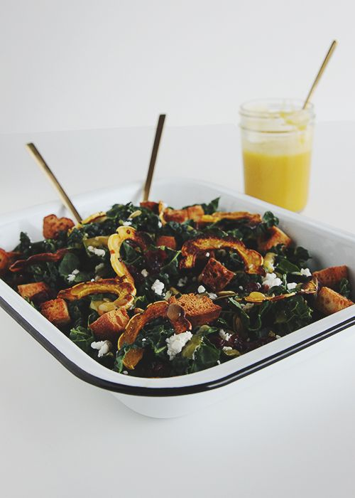 Check out Squash Kale Autumn Salad. It's so easy to make! | Pumpkins ...