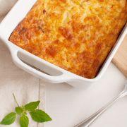 Ovenschotel met ei, paprika en Hüttenkäse