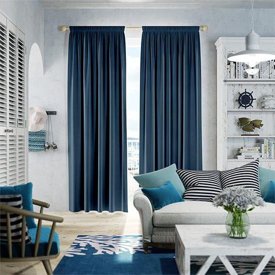 Fine Velvet Royal Blue Curtains Part 59
