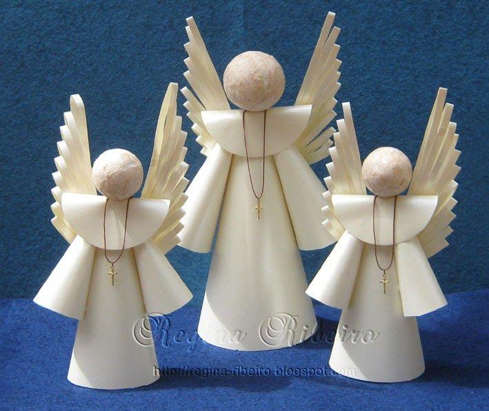 Boa tarde meninas!!!! Esses anjinhos foram feitos para a comemoração do batizado do segundo filho de uma amiga. Aintenção era fazer esse...