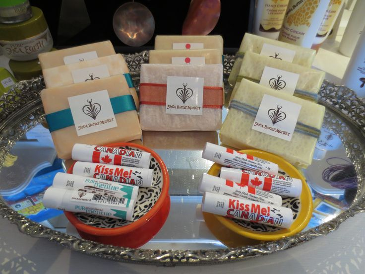 We have hand crafted soaps and beauty products made locally with shea butter imported from Ghana by Gifty Serbeh Dunn of Shea Butter Market