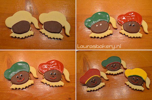Sinterklaas en zwarte piet koekjes