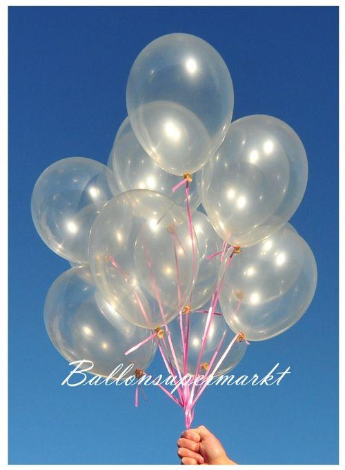 Transparente Luftballons aus Latex