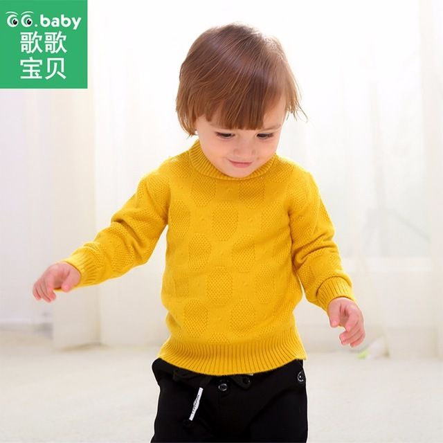 Casual Winter Cotton Boys Sweaters For Baby Girl Christmas Sweater Pull Fille Kids Clothes Candy Color Children Clothing For Boy