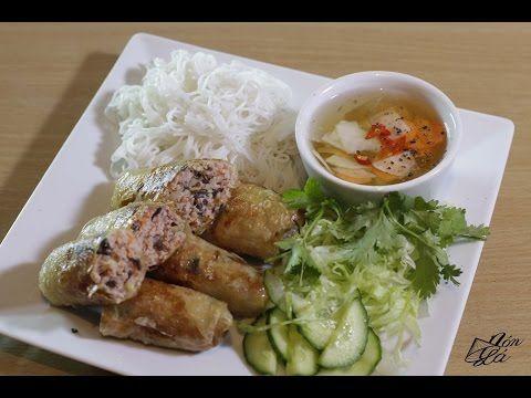 Vietnamské smažené závitky (Nem rán) - YouTube