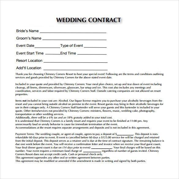 Image Result For Wedding Videography Agreement Image Result For