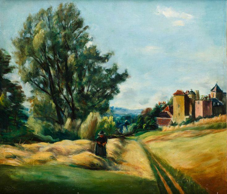 HENRYK HAYDEN (1883 - 1970)  PODMIEJSKI PEJZAŻ FRANCUSKI, 1930   olej, płótno / 69.3 x 60.5 cm
