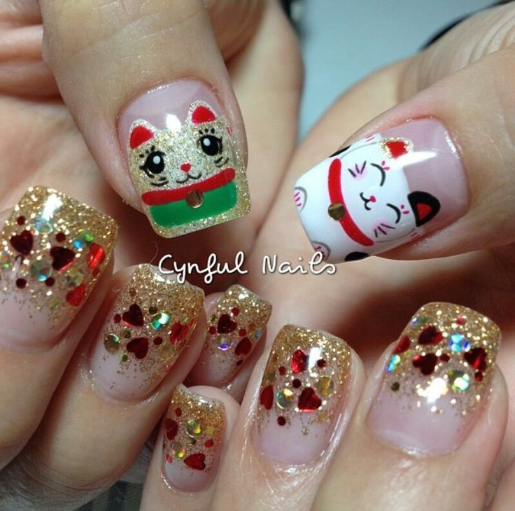 Top 16 Happy Chinese New Year Nail Designs – New Famous Fashion Manicure Trend - Way To Be Happy (7)